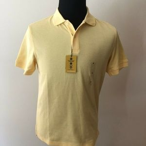 Club Room yellow short sleeve polo with UPF 50+